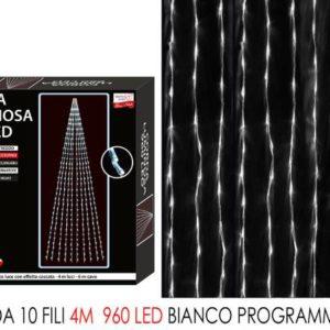 Corda 10 fili mt.4 c/960 led bianco ghiaccio art. 450304