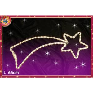 Decorazione luminosa stella bianca art. 449902