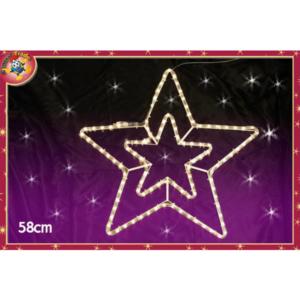 Decorazione luminosa 2 stelle art. 449906