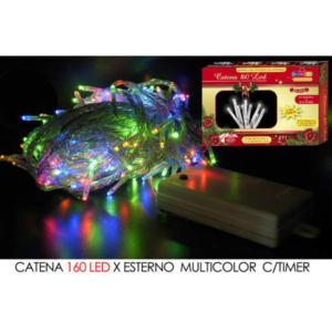 Catena 160 led a batteria mt.8 multicolor art. 450406