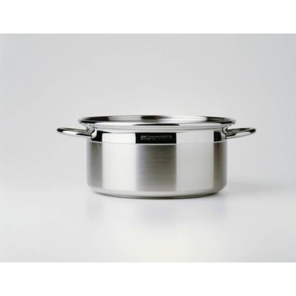 Casseruola 2 manici ICM cm.24 acciaio inox 18/10