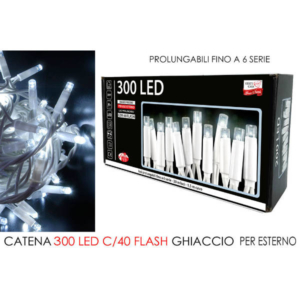 Catena 300 led flash bianco ghiaccio art. 451181
