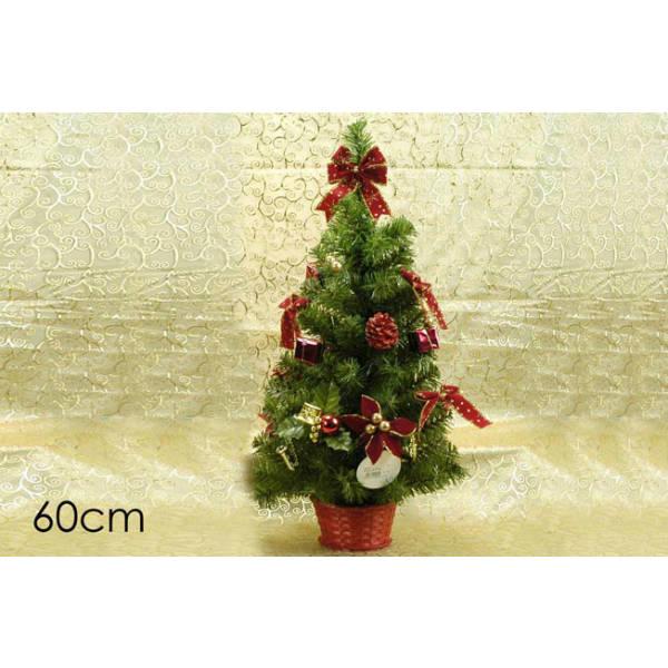 Pinetto con cestino decorato rosso 60 cm. art. 761001