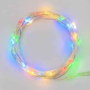 Filo nudo 20 led Multicolor batteria art. 30138