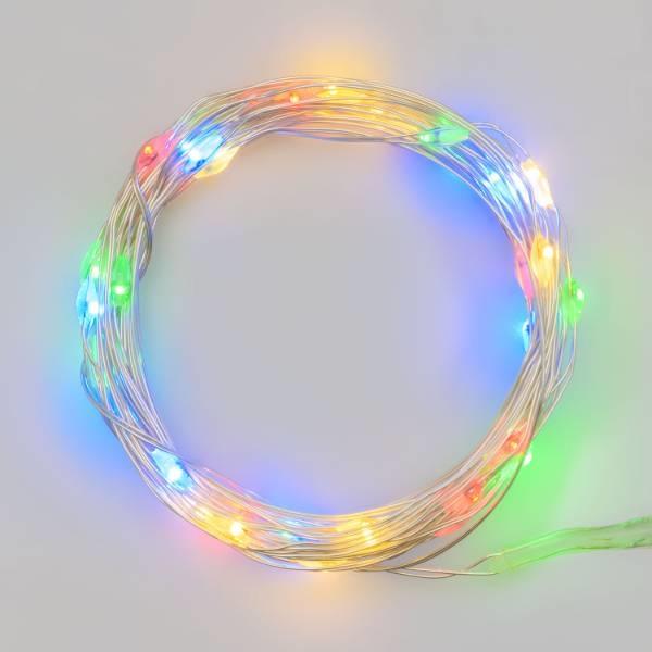 Filo nudo 20 led Multicolor batteria art. 30138