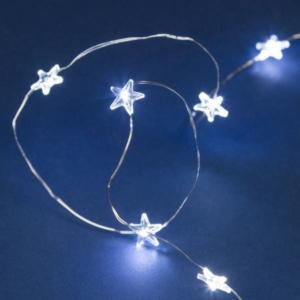 Filo nudo 20 stelle flash mt.0,3+1,9 bianco ghiaccio batteria art. 38769