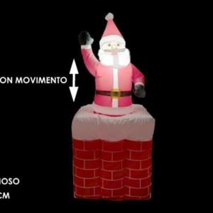 Babbo natale c/movimento gonfiabile