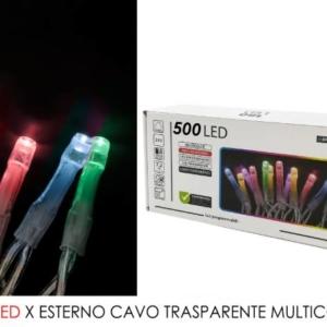 500 luce led Multicolor per est. cavo trasp. art. 451070