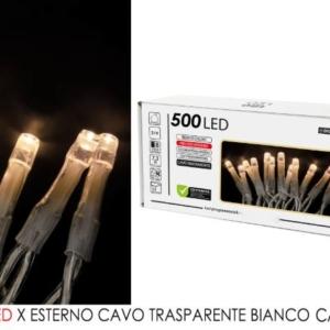 500 Luce led bianco caldo per est. cavo trasp. art. 451072