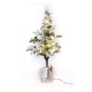 Abete innevato prima neve con luci cm. 100