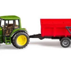 Bruder trattore John Deere 6920 con rimorchio 02057
