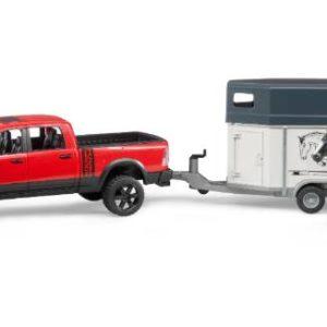 Bruder Wagon con rimorchio e 1 cavallo 02501