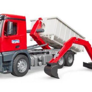 Bruder camion container ribaltabile c/scavatore 03624