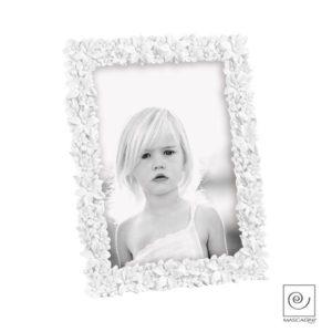 Portafoto 15x20 resina bianco