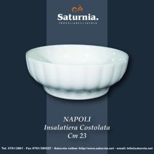 Insalatiera Napoli costolata 20 cm Saturnia