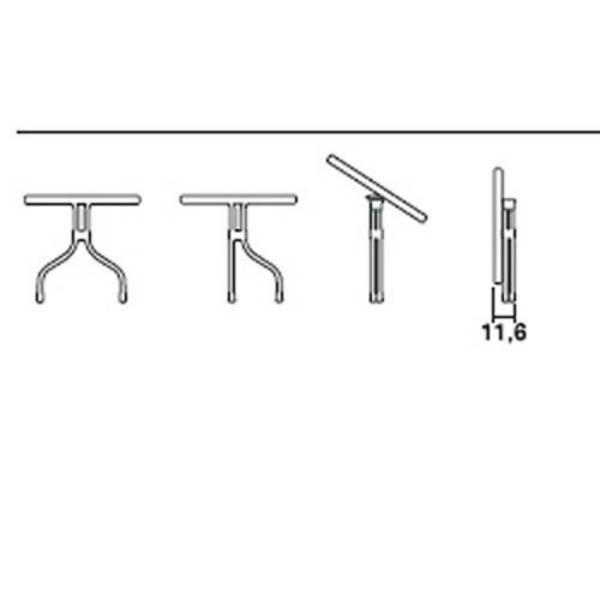 Tavolo olimpo SCAB cm.80x80 art. 219770