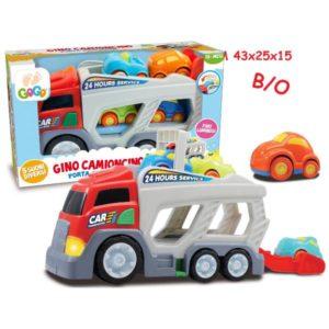 Camion portauto con 4 ruote luci e suoni