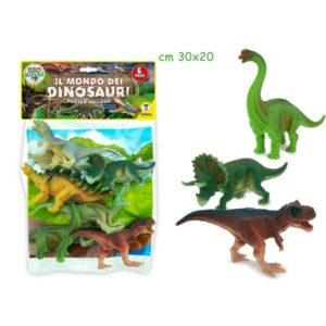 Dinosauri 6 pz con mappa