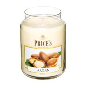 Price's candela in giara grande argan
