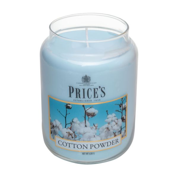Price's candela in giara grande cotton powder