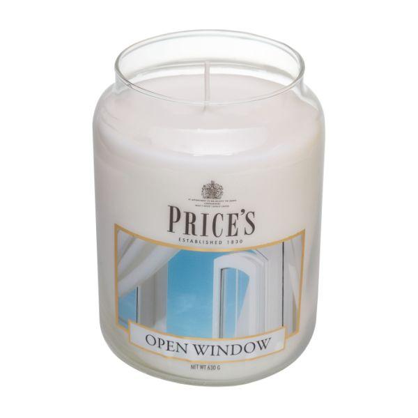 Price's candela in giara grande open window