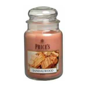 Price's candela in giara grande sandalwood