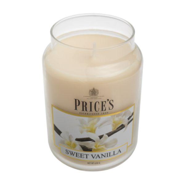 Price's candela in giara grande sweet vanilla