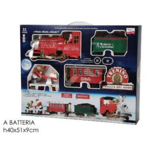 Treno natalizio c/luci e suoni art.107019