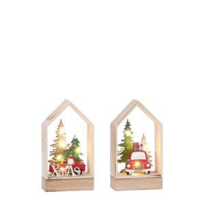 Casetta in legno Natale a batteria art.1084424