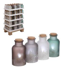 Vaso con tappo sughero decorato 1 led art.1085090