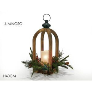 Lanterna c/candela h.40 cm.art.423944