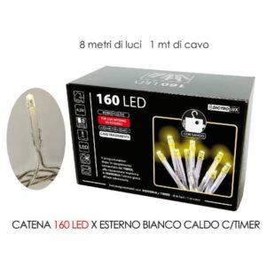 Catena 160 led x esterno bianco a batteria art.450408