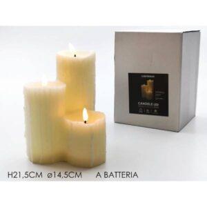 Moccolo 3 candele c/luce art.632570