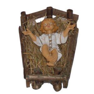 Statua Presepe: Gesu' Bambino in culla cm.40 art.E4102