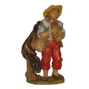Statua Presepe: Zampognaro cm.20 art.PAS12-NL