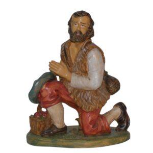 Statua Presepe: Pastore in ginocchio cm.30 art.PAS14-NL