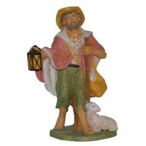 Statua Presepe: Pastore con lanterna cm.30 art.PAS30-15NL