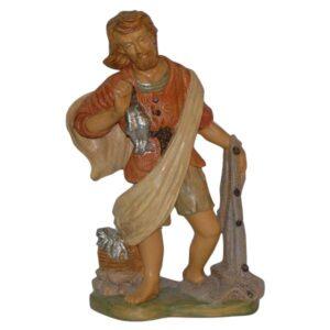 Statua Presepe: Pastore con pesci e rete cm.30 art.PAS19-NL