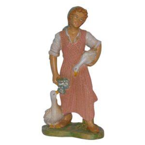 Statua Presepe: Pastorella con oche cm.30 art.PAS30-21NL