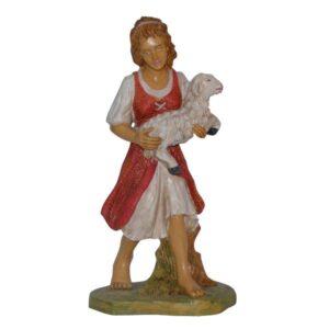 Statua Presepe: Pastorella con pecora cm.30 art.PAS22-NL
