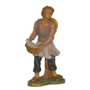Statua Presepe: Pastore con gallina cm.30 art.PAS30-23NL