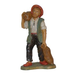 Statua Presepe: Pastore con sacchi cm.30 art.PAS24-NL