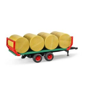 Bruder Carro trasporta balle fieno 02220