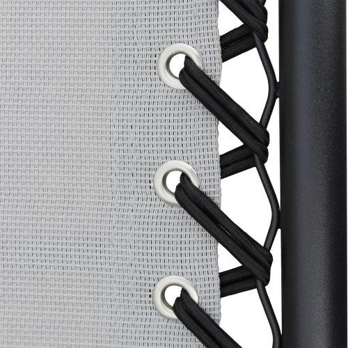 Sdraio COMFORT Art.BC807814 acciaio e textilene